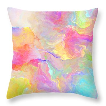 Eloquence - Abstract Art Throw Pillow