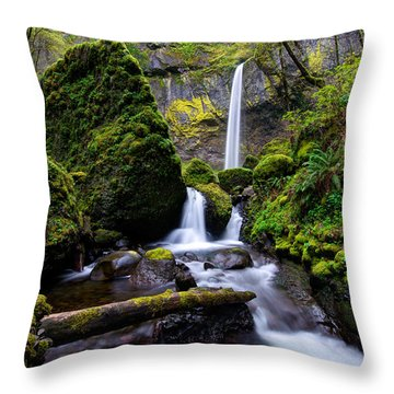 Elowah Falls Throw Pillow