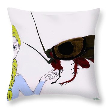 Elsa's New Pet Throw Pillow