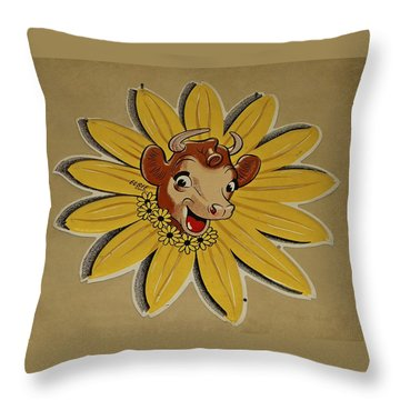 Elsie The Borden Cow  Throw Pillow