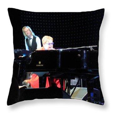 Elton Being Elton Throw Pillow by Aaron Martens