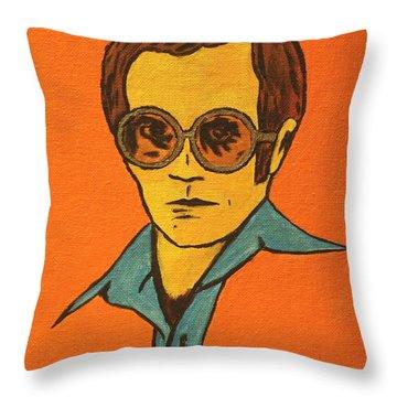 Elton John Throw Pillow by John Hooser