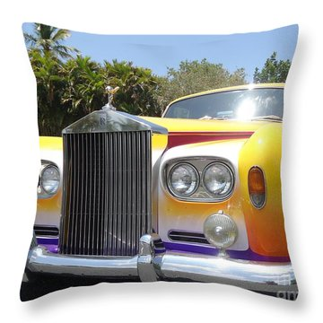 Elton John's Old Rolls Royce Throw Pillow