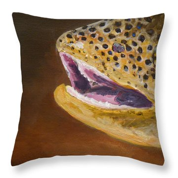 Elusive Brown Throw Pillow