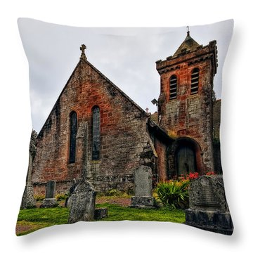 Elvanfoot Parish Church Throw Pillow by Marcia Colelli