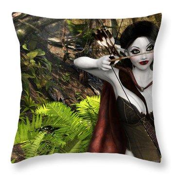 Elven Archer Throw Pillow