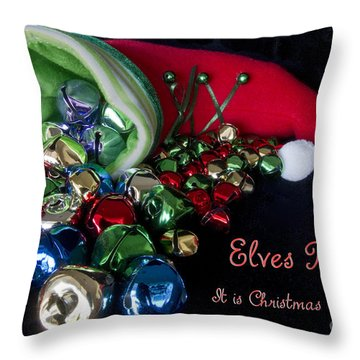 Throw Pillow featuring the photograph Elves Bells by Photography by Laura Lee