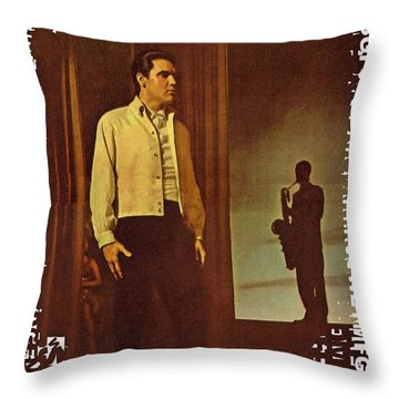 Elvis Aaron Presley Throw Pillow by Movie Poster Prints
