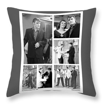 Elvis Collage Throw Pillow by Chuck Staley