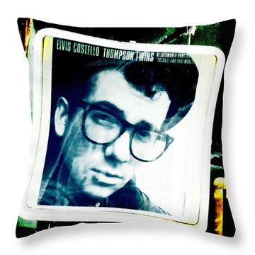 Elvis Costello Throw Pillow