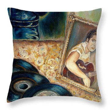 Elvis Country Boy Throw Pillow by Carole Spandau