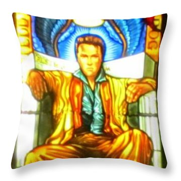 Elvis Throw Pillow by Crystal Loppie