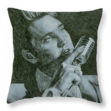 Elvis Live '56 Throw Pillow by Rob De Vries