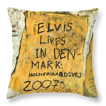 Throw Pillow featuring the photograph Elvis Lives In Denmark by Lizi Beard-Ward