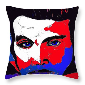 Elvis Made In The U S A Throw Pillow