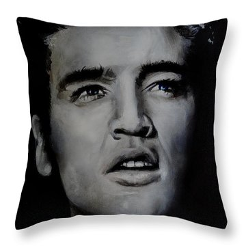 Throw Pillow featuring the painting Elvis- Mississippi Trucker by Eric Dee