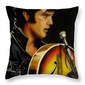 Elvis Presley Throw Pillow by Betta Artusi