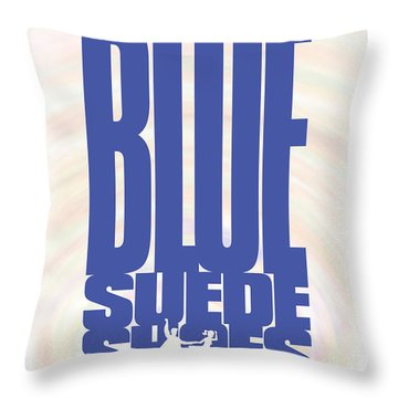 Elvis Presley - Blue Suede Shoes Throw Pillow