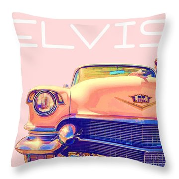 Elvis Presley Pink Cadillac Throw Pillow