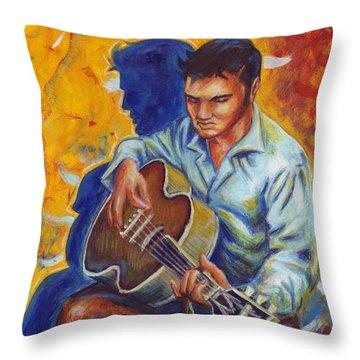 Elvis Presley- Shadow Duet Throw Pillow