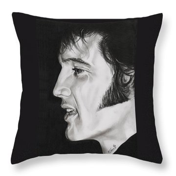 Elvis Presley  The King Throw Pillow by Fred Larucci