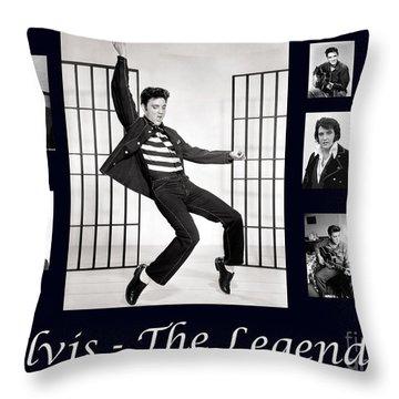 Elvis Presley - The Legend Throw Pillow by Darleen Stry