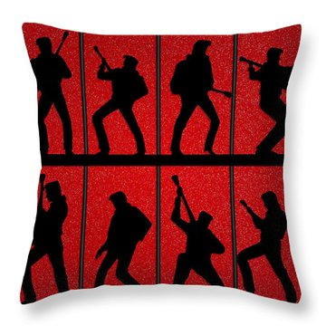 Elvis Silhouettes Comeback Special 1968 Throw Pillow