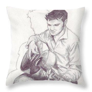 Elvis Sketch Throw Pillow