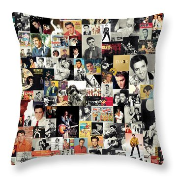 Elvis The King Throw Pillow