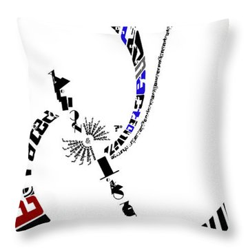 Elvis With Words Throw Pillow