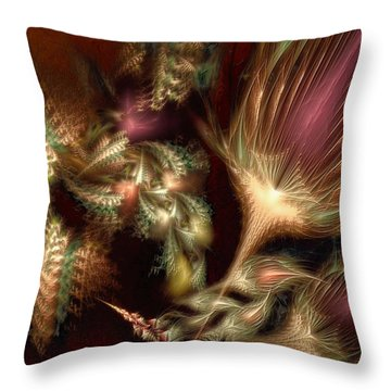 Throw Pillow featuring the digital art Elysian by Casey Kotas