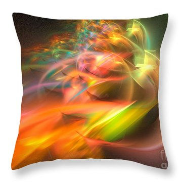 Throw Pillow featuring the digital art Elysium by Sipo Liimatainen