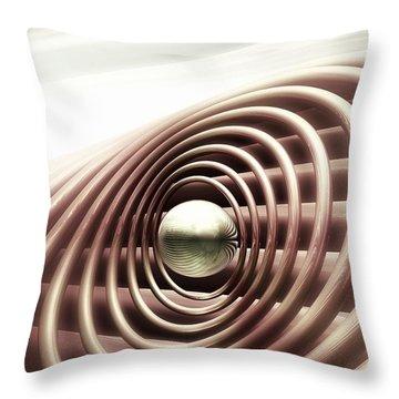 Throw Pillow featuring the digital art Emanate by John Alexander
