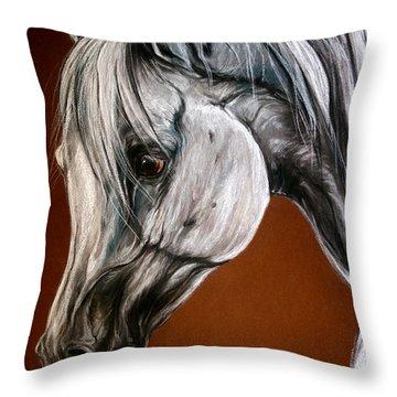 Emanda Throw Pillow by Angel  Tarantella