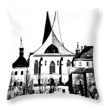 Emauzy - Benedictine Monastery Throw Pillow by Michal Boubin