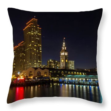 Embarcadero Blue Hour Throw Pillow