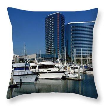 Embarcadero Marina Hotel, San Diego Throw Pillow