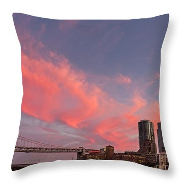 Embarcadero Sunset Throw Pillow