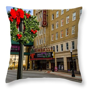 Embassy Christmas - Fort Wayne Throw Pillow
