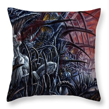 Embedded Into A World Of Pain Throw Pillow