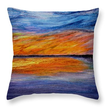 Ember Night Throw Pillow