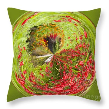 Emberglow Orb Throw Pillow by Anne Gilbert