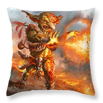 Embermage Goblin Throw Pillow