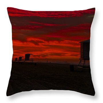 Throw Pillow featuring the photograph Embers Of Dawn by Duncan Selby