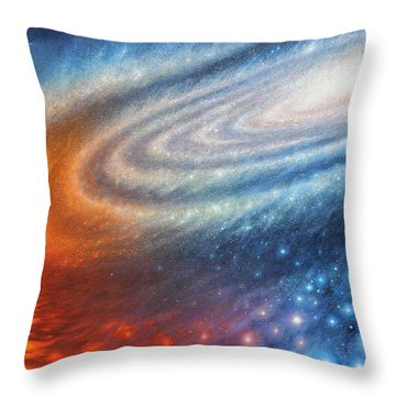 Embers Of Exploration And Enlightenment Throw Pillow by Lucy West