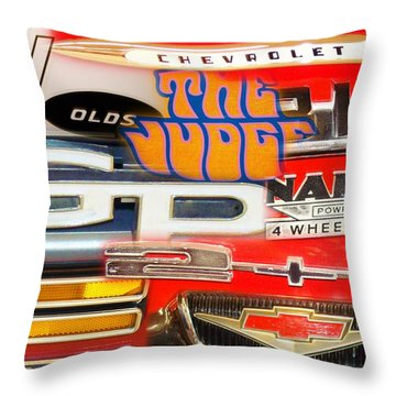 Emblem Power 5 Throw Pillow
