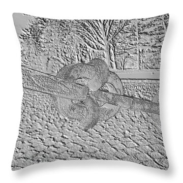 Throw Pillow featuring the photograph Embossed Chain by Michael Porchik