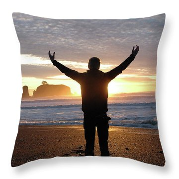 Throw Pillow featuring the photograph Embrace by Jill Westbrook