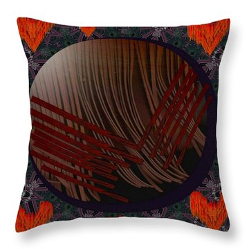 Embrace Our Earth With Love Pop Art Throw Pillow by Pepita Selles