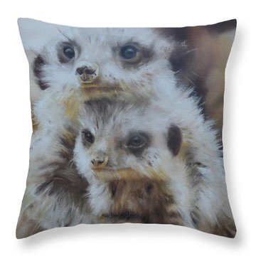 Embraced Throw Pillow